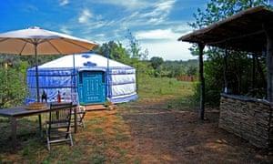 Yurt at La Pierre Verte