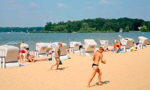 Berlin beach lake