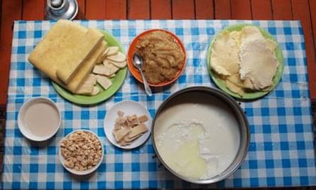 Mongolian ger camp - food
