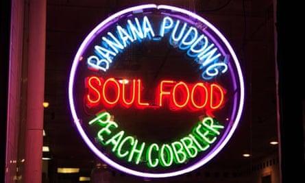 Neon sign for Soul Food, Harlem