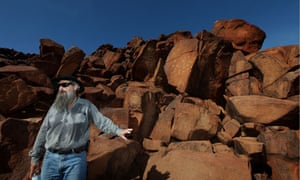 Ken Mulvaney cultural heritage specialist with Rio Tinto at the Burrup Peninsula