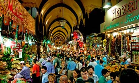 Egyptian Spice Bazaar Istanbul Turkey