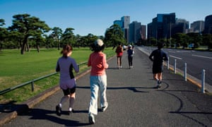 Jogging at the Imperial Palace