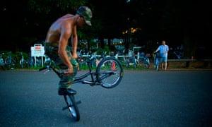 Cycling in Yoyogi Park