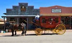 Riding shotgun … a stagecoach in Tombstone, Arizona.