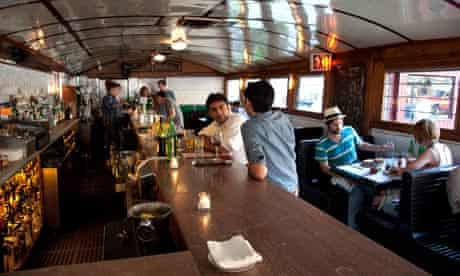 Diner restaurant in Brooklyn, New York, is in a converted dining car.