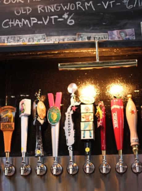 Beer pumps at Barcade