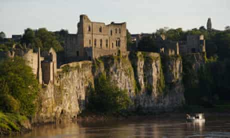 Chepstow Castle and River Wye, Wales