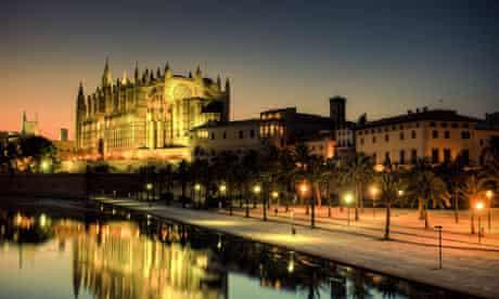 Palma de Mallorca Cathedral at dusk