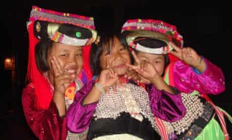 Local girls at Lisu Lodge