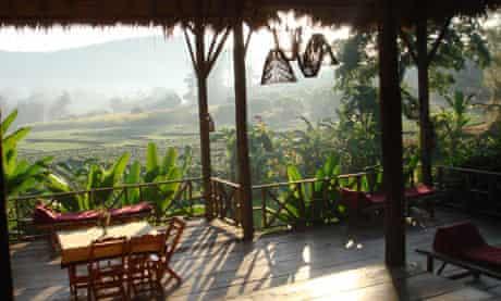 The veranda at Lisu Lodge.