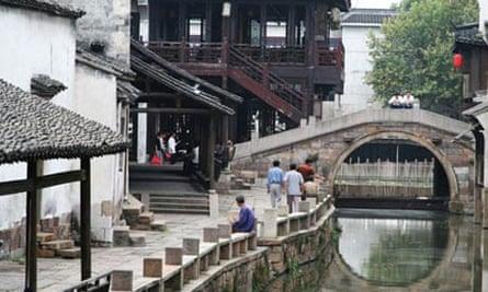 Ying Jia bridge in Wuzhen water village