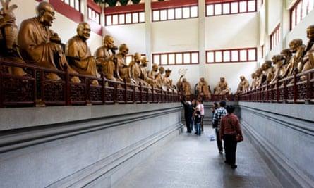 Hall of Five Hundred Arhats, Lingyin Temple, Hangzhou City, Zhejiang Province, China