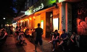 Nightlife in a street in Kreuzberg, Berlin, Germany