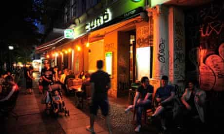 Nightlife in a street in Kreuzberg, Berlin, Germany