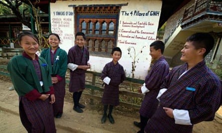 Pupils at a secondary school in Paro.