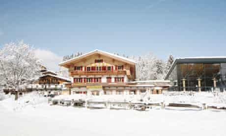 Hotel Bruggerhof in Kitzbühel, which is part of Austria's biggest interconnected ski area