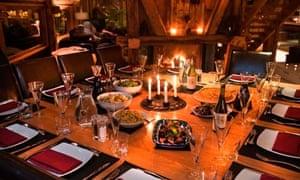Gourmet dinners at Ferme du Ciel