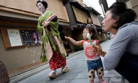 A Geisha in Kyoto