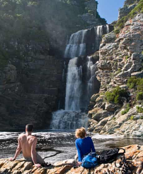 A waterfall in Tsitsikamma national park