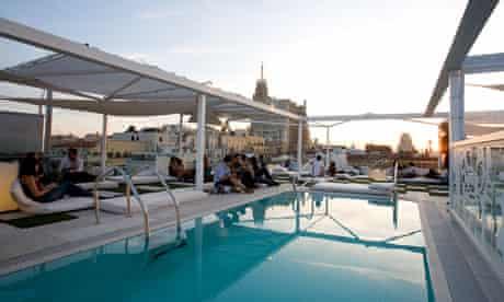 Rooftop bar at Room Mate Oscar