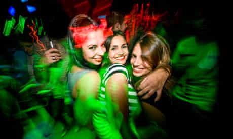 Making a night of it at Charada nightclub in Madrid, Spain