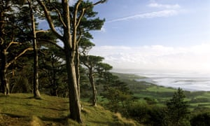 A landscape view of Silverdale and Morecambe Bay from Arnside Knott in Cumbria