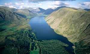 Over Wastwater and toward Wasdale Head, Lake District