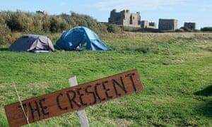 Piel Island camping, Cumbria