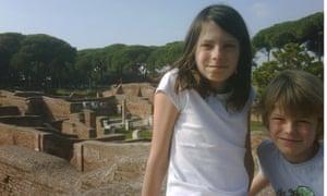 Emelye and Luke in Ostia Antica
