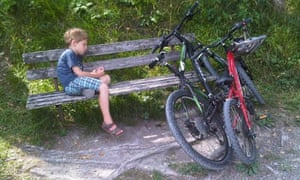 William persuades him mum it's time for a rest stop in Switzerland