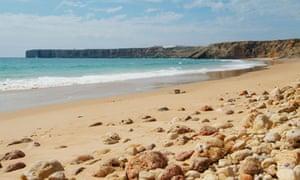 Mareta Beach in southern Portugal