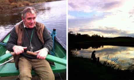 Steve, the ghillie, took Emma fishing on the Tweed in Northumberland