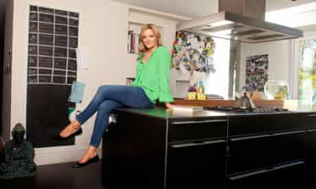 Gabby  Logan at her home
