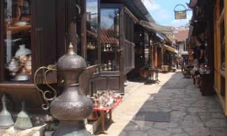 A street in the Muslim quarter of Sarejevo