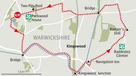 Packwood House toBaddesley Clinton, Warwickshire walk graphic