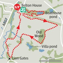 Belton Park, Lincolnshire walk graphic