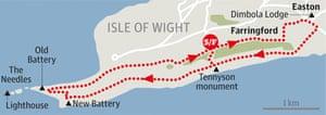 Tennyson Down, Isle of Wight walk graphic
