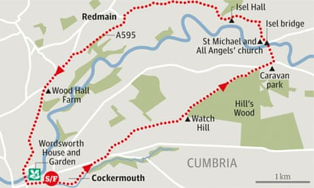 Wordsworth House, Cumbria walk graphic