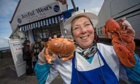 Joyful West's shellfish bar, Sheringham