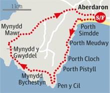 Aberdaron to Mynydd Mawr, Gwynedd walk graphic