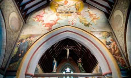 The murals at Berwick Church