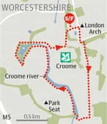 Croome, Worcestershire walk graphic