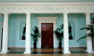 The entrance hall or vestibule at Croome Court in Croome Park