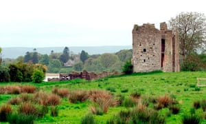 Old castle ruins on the Crom Estate, County Fermanagh