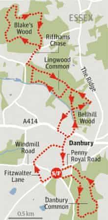 Danbury Common to Blake's Wood, Essex