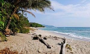 The Nicoya peninsula in Costa Rica