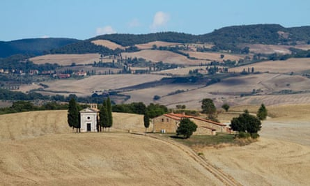 Countryside in the Orcia Valley, Tuscany, Italy