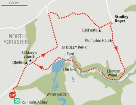 Fountains Abbey walk map