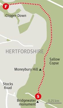 Ashridge Estate walk graphic